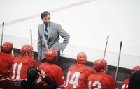 Soviet ice-hockey team coach Viktor Tikhonov, 1979